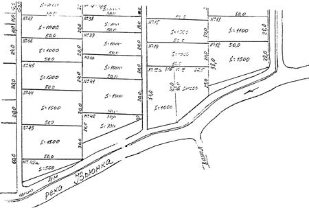 Фрагмент ксерокопиии плана